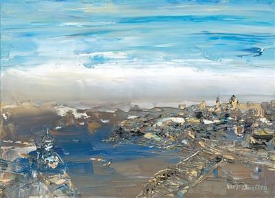 上海的早晨 油画
